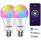 Lampadine Alexa Led E27 WiFi Lampadina Smart,EXTRASTAR Lampadine Intelligenti 10W 1000Lm Luci Calde/Fredde e 16 Milioni di Co