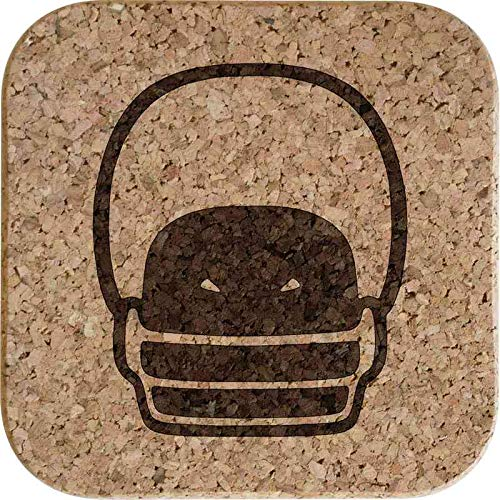 Azeeda 4 x 'Amerikanisch Fußball Helm' 10cm Quadratische Korkuntersetzer (CR00153920)