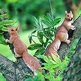 Perfeclan Gartenfigur Zaunfiguren Tiere Figur Skulptur Tierfigur - Eichhörnchen