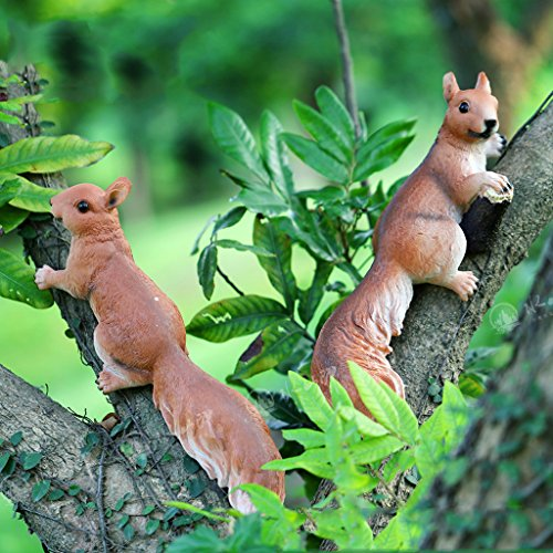 PETSOLA - Animal Resin Squirrel Figure for garden, house or garden decoration