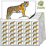 480 x Aufkleber - Tiger . Hochwertige selbstklebende Etiketten mit
