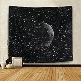 Wandbehang / Überdecke, dekoratives Weltraum-Design mit 12 Sternenkonstellationen  , Constellation, 59