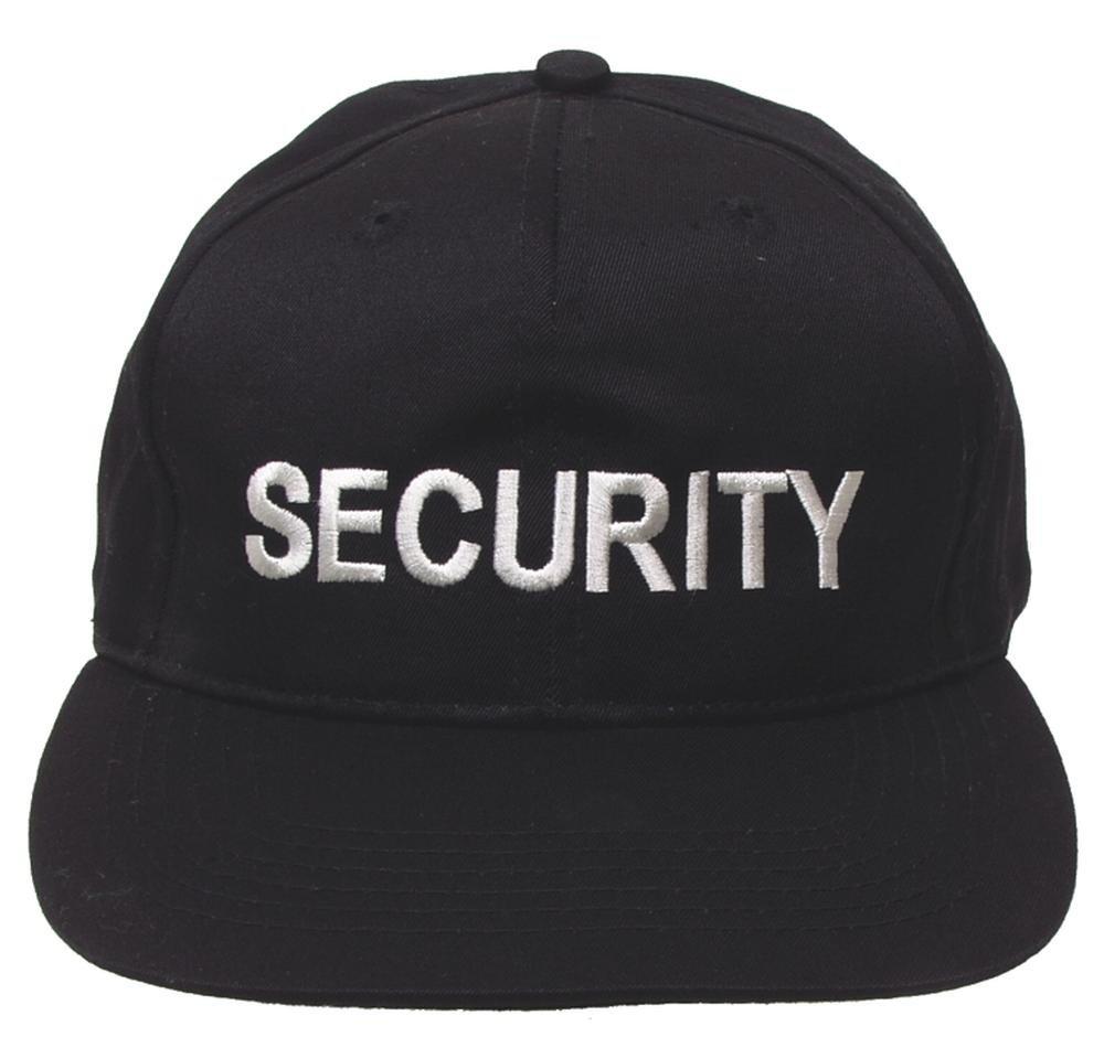 US Cap, mit Schild, schwarz, bestickt, SECURITY