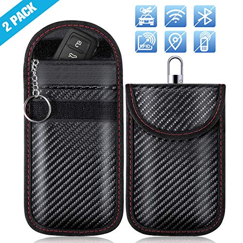 Keyless Go Schutz, ZOTO Autoschlüssel Schutz Hülle 2 Pack, RFID/WIFI/NFC Blocker Abschirmung Auto Faraday Schlüsseltasche Schlüsseletui Car Key Safe