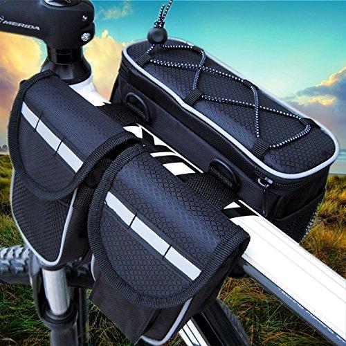 XY&GKVier in einem Auto die erste Tasche das obere Rohr die Fahrradtasche der Berg Fahrzeug der Strahl Paket das Reiten, Tasche, machen Ihre Reise angenehmer Black