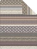 Ibena Jacquard Decke Kara beige/braun | 150 x 200 cm