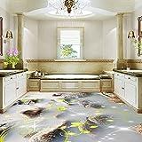 Lmopop 3D Bodenbelag Tapete Wandbilder Stein Foto Hotel Badezimmer Boden Gemälde Aufkleber PVC Wasserdichte Anti Wear Tapeten 3 D250X175Cm