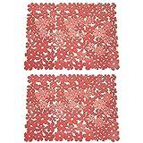 MetroDecor mDesign Tappetino per lavandini Grande – Il Perfetto Tappetino per Il Vostro lavello della Cucina e del Bagno – Ora in Comoda Confezione Doppia – Colore: Rosso