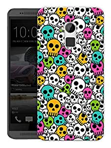 """Humor Gang Colorized Skulls Cute Printed Designer Mobile Back Cover For """"HTC ONE MAX"""" (3D, Matte Finish, Premium Quality, Protective Snap On Slim Hard Phone Case, Multi Color)"""