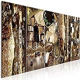murando -Quadro Gustav Klimt 200x80 cm - Quadro su fliselina - Stampa in qualita Fotografica - 5 Parti - Baiser Astratto or l-A-0035-b-m