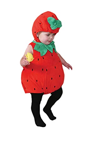 dress up by design baby strawberry costume baby strawberry 3 6 months - Strawberry Halloween Costume Baby