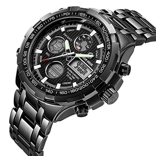 7fd71fa4b988 Reloj deportivo de pulsera analógico y digital de cuarzo para hombre