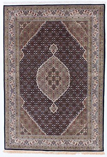 Tabriz Orientalische Teppiche (Indo Täbriz Royal Teppich Orientalischer Teppich 242x172 cm, Indien Handgeknüpft Klassisch)