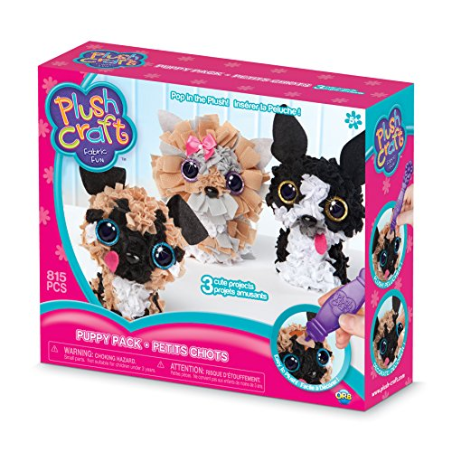Orb Factory 621442 - Plush Craft Puppy Pack 3D-Mini-Figuren, Plüsch