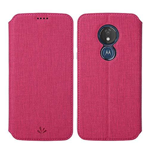 Eastcoo Kompatibel mit Motorola Moto G7 Power Hülle PU Leder Flip Case Tasche Cover Schutzhülle mit [Standfunktion][Magnetic Closure][Wallet]für Moto G7 Power Smartphone (Moto G7 Power, Rose)