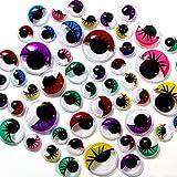German Trendseller® - 100 x yeux mobiles avec cils┃adhésif┃différentes couleurs et tailles ┃pour - Best Reviews Guide