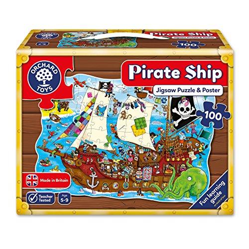 Orchard_Toys - Puzle (100 piezas), diseño de barco pirata
