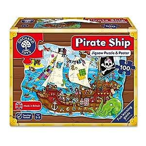 Orchard Toys Puzle (100 Piezas), diseño de Barco Pirata, 6+ (228)