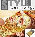 20 X Feuille Feuilles d'or 24K carats pur 99,9% pour spas Masque soin du visage Anti-Âge 35mmx35mm