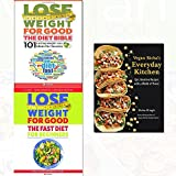 vegan richa's everyday kitchen, lose weight for good the diet bible and fast diet for beginners 3 books collection set - weight loss with intermittent fasting,101 lasting weight loss ideas for success