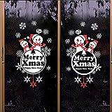 Stickers muraux,Papier peint Diy Petit bonhomme de neige Bonne année Le jour de noël Le bonhomme de neige Neige Verre Vitrines-A 40x48cm(16x19inch)