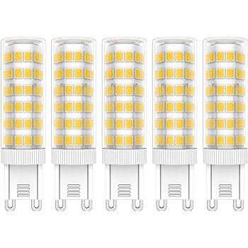 5X G9 LED de Bombillas 7W LED Lámpara 76 SMD 2835LEDs Bombilla Lámpara Blanco Cálido 3000K