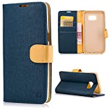 For Samsung Galaxy S6 Edge Plus Case, YOKIRIN Premium Soft PU Leather Notebook Wallet Cover Case with [Kickstand] Credit Card ID Slot Holder Magnetic Closure Design Folio Flip Protective Slim Skin Cover for Samsung Galaxy S6 Edge Plus, Navy Blue