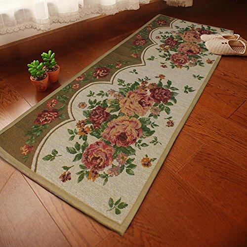 Yazi Pfingstrose Blumen Teppiche China Stil Teppich rutschfeste Matte für Küche Home Décor Spiegelschichte 45x 175cm