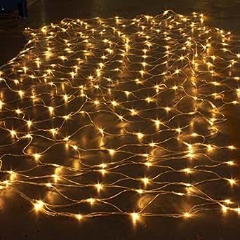 solmore 3m x 2m 204 led 220v net schnur lichterkette licht string f r innen aussen garten. Black Bedroom Furniture Sets. Home Design Ideas