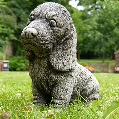 Piccolo Spaniel decorazione da giardino statua/Pietra/in