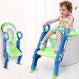 SaponinTree Asiento con Escalera para Bebés, Reductor WC niños Aseo Asiento con Escalera Plegable, Asiento de Inodoro orinal