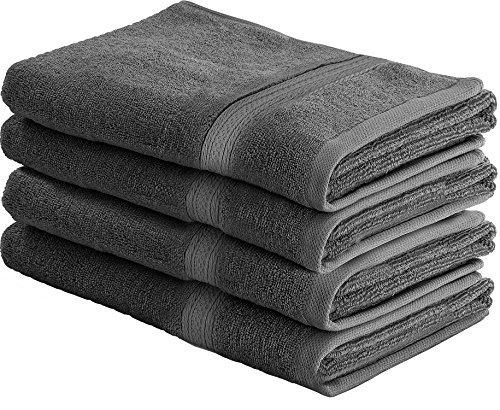 700 GSM Premium händehandtuch Set 4er Packung - Baumwolle für Hotel & Spa Maximale Weichheit und Saugfähigkeit von Utopia Towels (Grau)