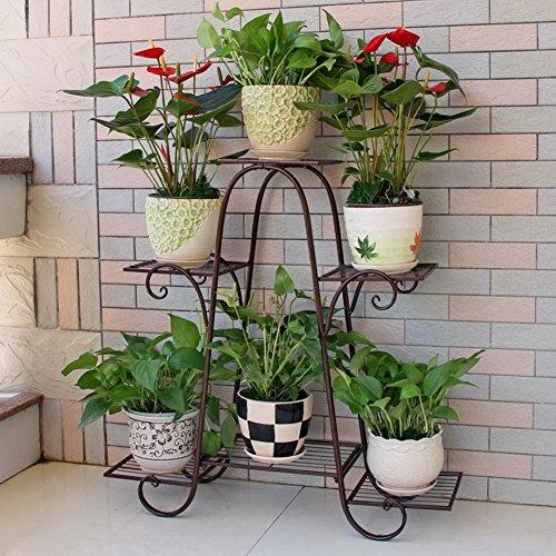 DULPLAY 100{535f0efe105520f1541f0e0e9da05fb3b6cc1fbd8d4849a6cf679fdf71ac09c6} Metal 6 Tiered Das pflanzenrega, Blumen Regale Blumenständer mit Für innen und außen Dekoration Perfekt für zu Hause & Garten Liebhaber-B 76x23x73cm(30x9x29inch)