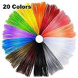Meiso - Filamenti per penna 3D, filamento ABS, 1,75 mm, lunghezza 5 m al pezzo, filamento di stampa 3D 73 m lineari