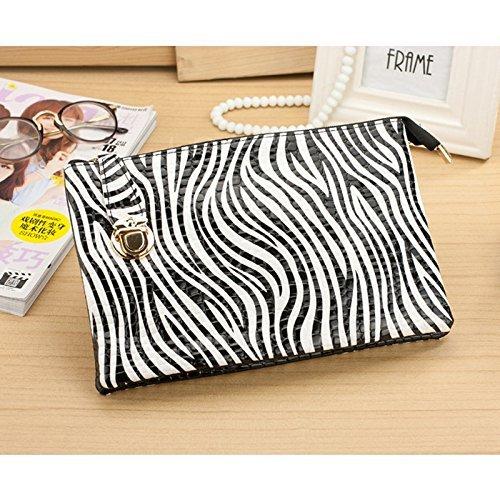 Huihuger Frauen praktischer Steckverschluss Umschlag Tasche Crossbody Fashion Zebra Streifen Tasche - Fashion Zebra-streifen
