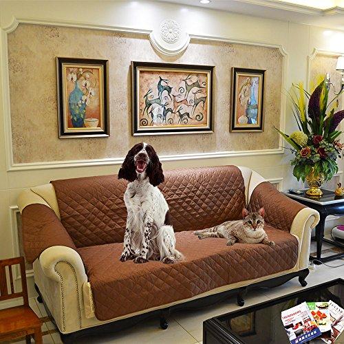 Decdeal 3 Sitzer Sofaschutz Sofa Schondecke Hundematte 277 x 190cm