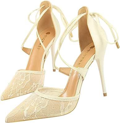 Moquite Donna 2019 Nuovo Sexy Moda Scarpe col Tacco,10cm Tacco a Spillo Sandali,Primavera ed Estate Femminile con Tacchi Alti,Dimensione 34-40 EU