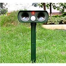 Repellente a ultrasuoni Pest Repeller solare/ultrasonico per animali gatto, cane, volpe
