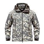 MAGCOMSEN Men's Waterproof Tactical Jackets Winter Outdoor Camouflage Softshell Jacket Fleece Lining 8