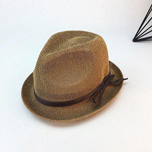 Xing Han Damen Hüte Sommer Strohhut Strand Freizeitaktivitäten Hat Ferienhäuser Visor Ist Dunkel Braunen Hut Visor Sonnenhut Frauen Stroh, Licht/Farbe