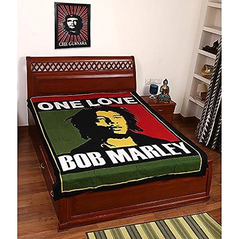 Bella Bob Marley Stampa 100% della copertura del cotone letto, Tapestry, lenzuolo, Gettare, muro appeso, Hippie Wall Hanging, Wall Art Decorative