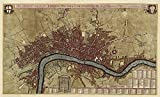 London in 1700 - an old map by Robert Morden - Very Large Modern Reprint