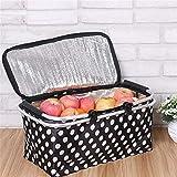 Somedays Cesta de picnic plegable y plegable con cesta de almacenamiento, cesta para la compra, 46 x 28 x 24 cm