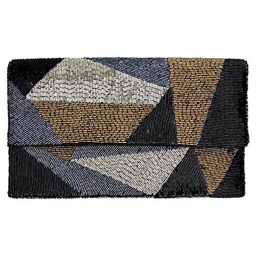 GreenGate Gate Noir - Clutch Handtasche Tasche Partytasche - Art Deco, 20er Jahre Tasche - mit Edler Perlenstickerei