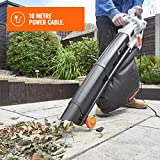 VonHaus 3 in 1 Leaf Blower - 3000W Garden Vacuum & Mulcher - 35 Litre Collection Bag, 10:1 Shredding Ratio, Automatic Mulching Compacts Leaves in Bag with 10m Cable