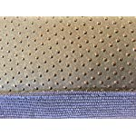 """Ellie-Bo Small 56cms x 41cms Dog Bed Blue Corduroy Sides and Grey Faux Fur Topping will fit 24"""" Small Dog Cage or Crate 10"""