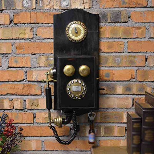 Retro Teléfono Viento Industrial Modelo Decoración del Hogar Decorac