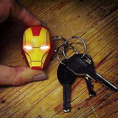 Officiel Marvel Avengers Iron Man masque Light Up LED torche Keyring Keychain