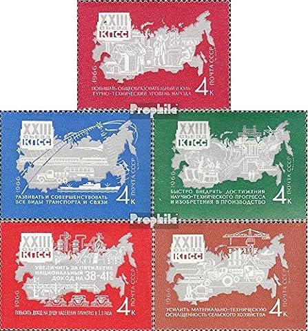 Soviétique-Union 3269-3273 (complète.Edition.) neuf avec gomme originale 1966 parti le