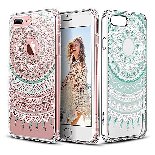iPhone 7 Plus Hülle (5,5 Zoll), ESR® Hybrid Hülle Muster, iPhone 7 Plus Bumper Case [Weiche TPU Rahmen + Hart PC Rückdeckel] Schutzhülle für iPhone 7 Plus (Manjusaka) Datura